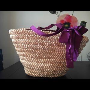 Lanvin straw bag NWOT